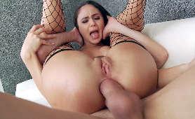 Gleboki Seks Analny, Kobieta W Pończochach Ariana Marie