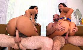 Xxx Filmiki Porno, Dwie Kobiety I Dwóch Facetów Diamond Kitty, Nikki Lavay